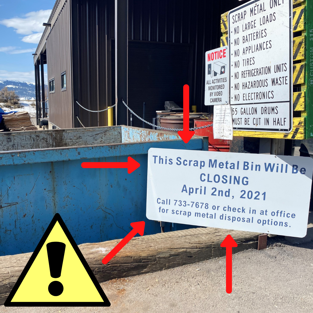 scrap metal bin closure